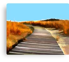 *Abstract Beach Dune Boardwalk* Canvas Print