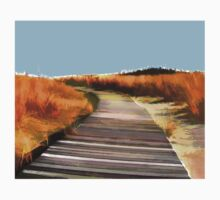 *Abstract Beach Dune Boardwalk* Baby Tee