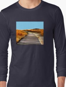 *Abstract Beach Dune Boardwalk* Long Sleeve T-Shirt