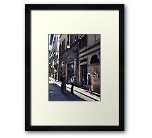afternoon shadows Framed Print
