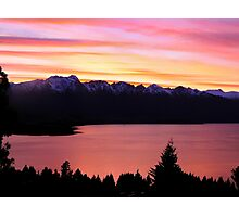 The Remarkables at Sunset Photographic Print