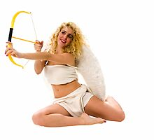 Female Cupid (Greek Eros) the god of desire by PhotoStock-Isra