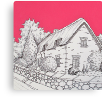 A Country Cottage Canvas Print