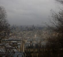 Montmarte in the rain by lucyturnbull