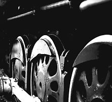 Wheels are frozen without movement..rusting away by jammingene