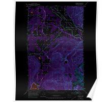 USGS Topo Map Washington State WA Lawrence 241957 1952 24000 Inverted Poster
