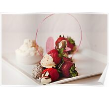 Chocolate dipped strawberries Poster