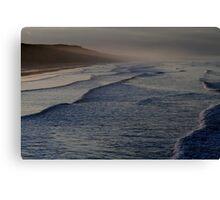 October Twilight : Saltburn on Sea beach. Canvas Print