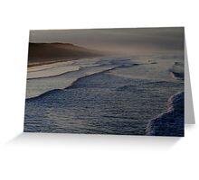 October Twilight : Saltburn on Sea beach. Greeting Card