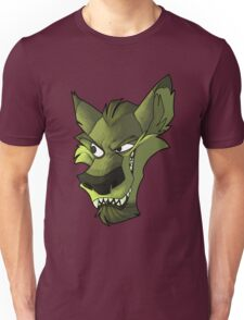 Green wolf head with shading  Unisex T-Shirt