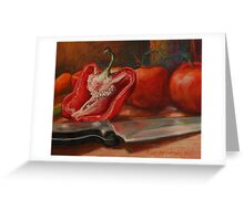 Sliced Red Pepper Still Life Greeting Card