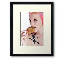 She Stole the Cookie from the Cookie Jar!!! Framed Print