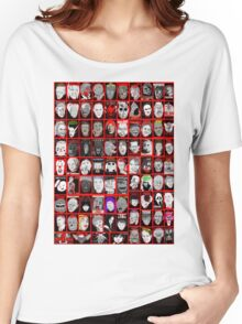 Faces of Horror Collage art Women's Relaxed Fit T-Shirt