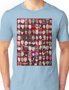 Faces of Horror Collage art Unisex T-Shirt