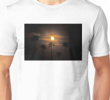 MOON CLOUDS SKY AND PALM TREES Unisex T-Shirt