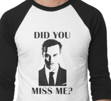 Moriarty, Did You Miss Me? Men's Baseball ¾ T-Shirt