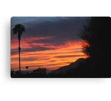 SUNRISE WITH LONE SENTINEL OVER DESERT Canvas Print