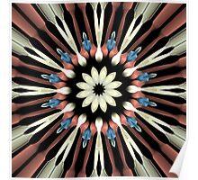 Abstract Flower Mandala Poster
