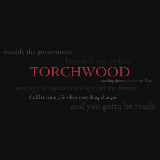 TShirtGifter presents: Torchwood: outside the government, beyond the police