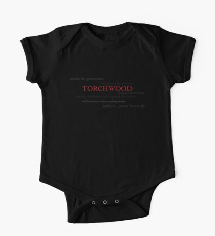 Torchwood: outside the government, beyond the police One Piece - Short Sleeve