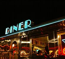 Late night diner Miami by Mark  Johnstone