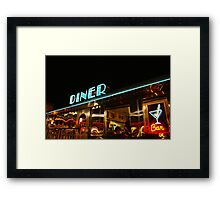 Late night diner Miami Framed Print