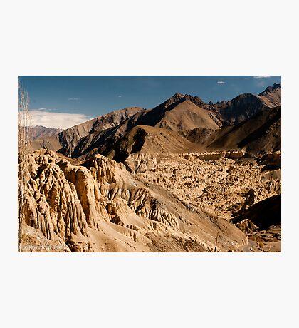 the unique hills of leh Photographic Print