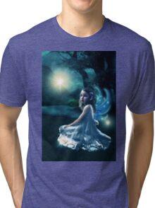 Fairy and Fireflies Tri-blend T-Shirt