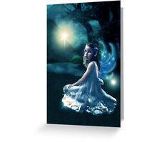 Fairy and Fireflies Greeting Card