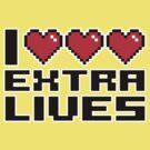 I Heart Extra Lives by DetourShirts