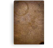Quints speech Canvas Print