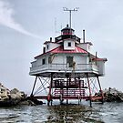 Thomas Point Shoal Lighthouse by Monnie Ryan