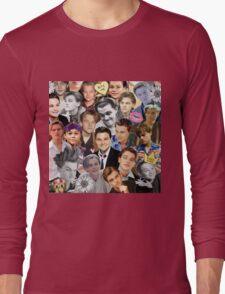 Leonardo DiCaprio Collage Long Sleeve T-Shirt