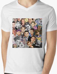 Leonardo DiCaprio Collage Mens V-Neck T-Shirt
