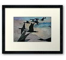 Migrating over the Clouds Framed Print