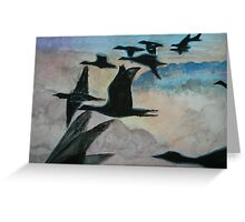 Migrating over the Clouds Greeting Card