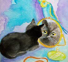 """""""Little OJ"""" watercolors :)) by karina73020"""
