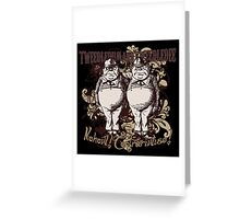 Tweedledum & Tweedledee Carnivale Style Greeting Card
