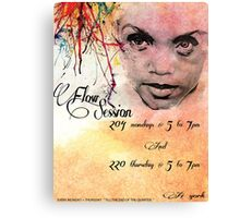 Flow Session Flyer #2 Canvas Print