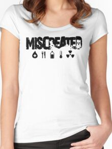 Miscreated Scoop Neck Black Text (Official) Women's Fitted Scoop T-Shirt