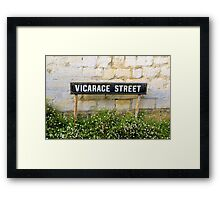 Vicarage Street - The Cotswolds Framed Print