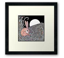 Full Moon Hare Framed Print