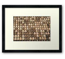 A patchwork of Spanish tiles Framed Print