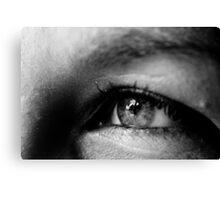 Black & White Macro Eye Canvas Print