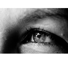 Black & White Macro Eye Photographic Print