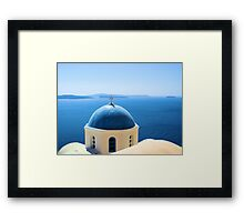 Shades of blue in Greece Framed Print