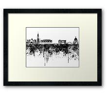 Venice skyline in black watercolor Framed Print