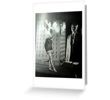 she might be to hot for you Greeting Card