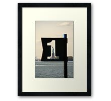 Liberty seen from Battery Park Framed Print