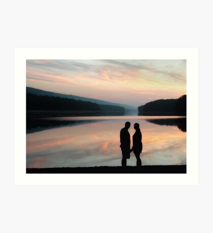 ROMANTIC REFLECTION Art Print
